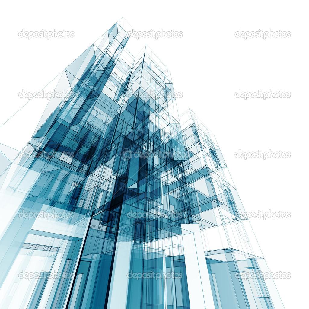 Beautiful Abstrakte Gebäude. Architektur Entwerfen Und Mein Eigenes Modell U2014 Foto Von  1xpert
