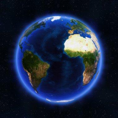Atlantic globe