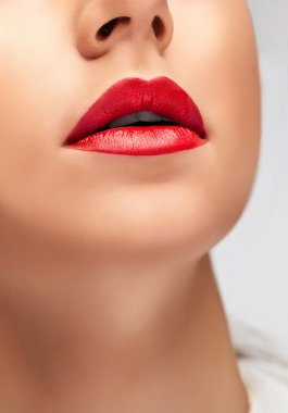 Close-up of beautiful woman's lips