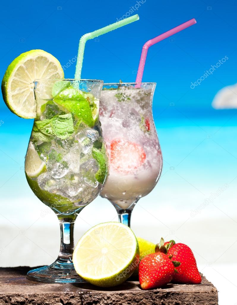 Cocktails on a beach