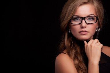 Woman giving suspicious look
