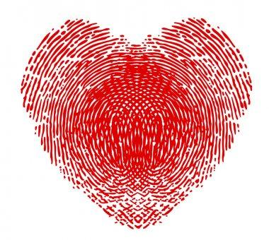 Fingerprint in the form of heart