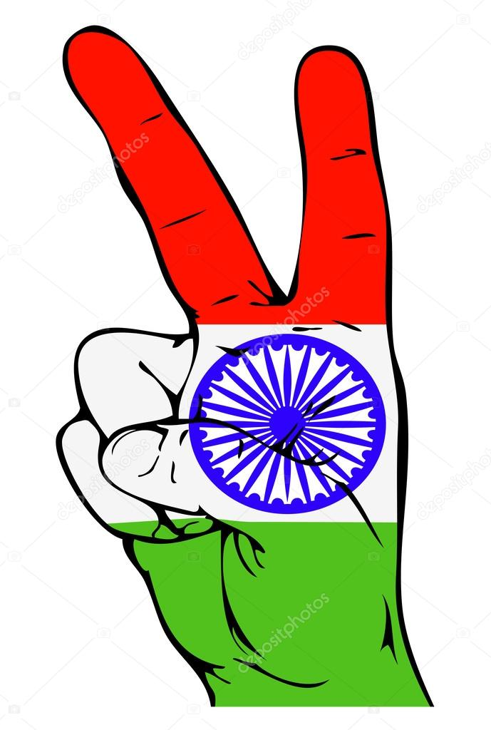 Peace Sign Of The Indian Flag Stock Vector Vlada13 30991963