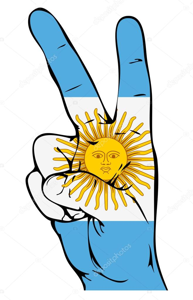 Peace Sign of the Argentinean flag