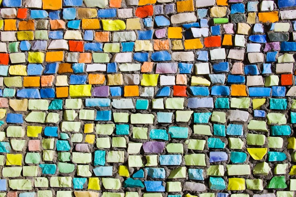 textura de mosaico colorido horizontal en pared — Fotos de Stock ...