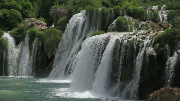 vodopád v národním parku krka, Chorvatsko