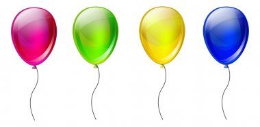 Set of color balloons