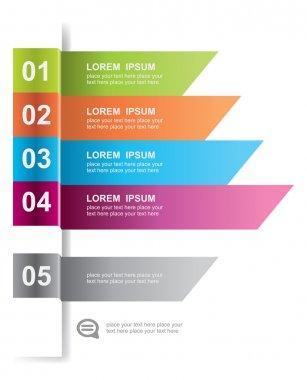 Modern design element template. For web design, infographics. clip art vector