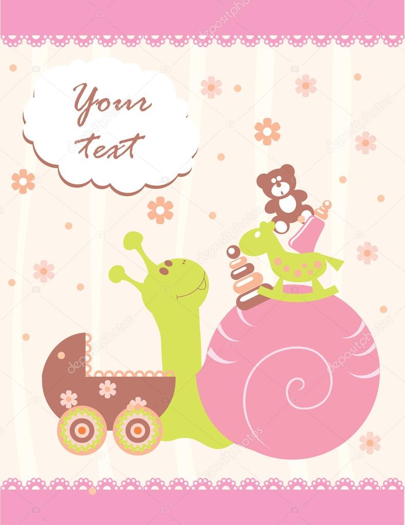Baby Arrival Announcement Card Stock Vector Itmuryn - Baby arrival announcement