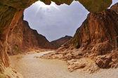dramatické černý kaňon v Izraeli
