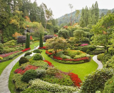 The Sunken-garden on island Vancouver