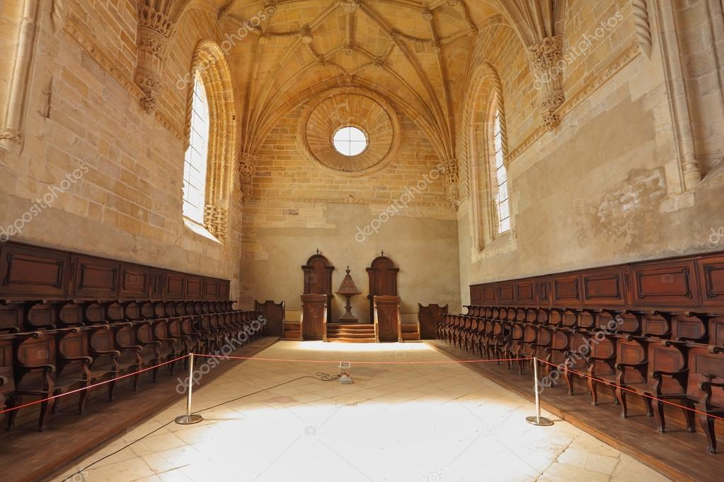 The magnificent chapel with a vaulted ceiling