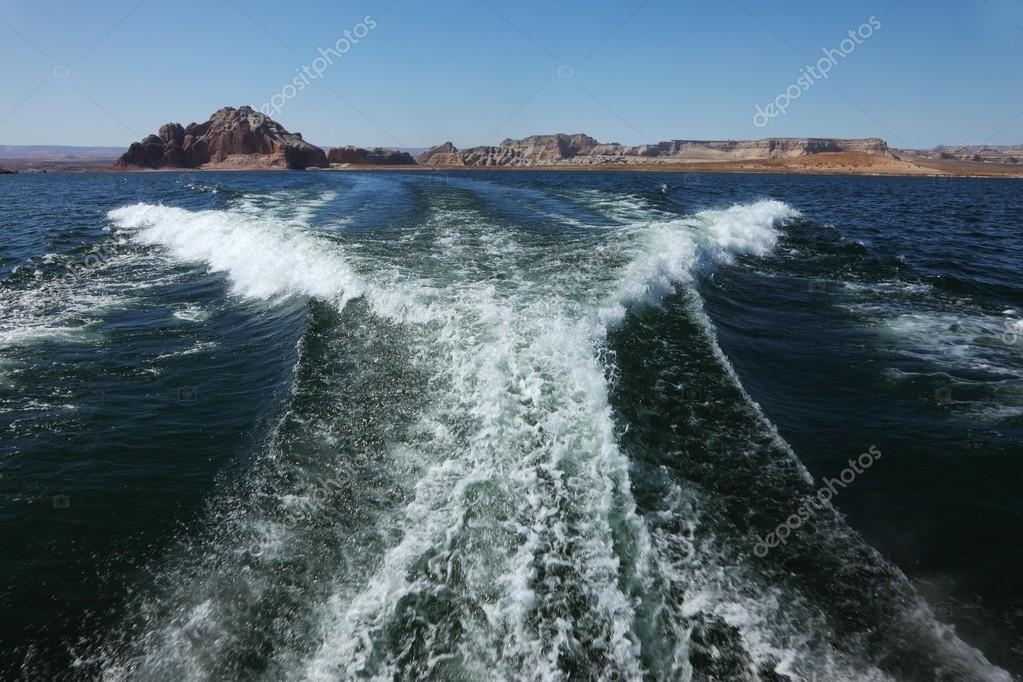 Stormy waves in Lake Powell