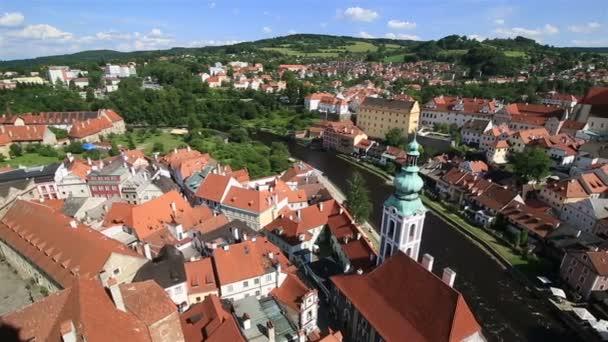 Panorama z historického centra města Český krumlov