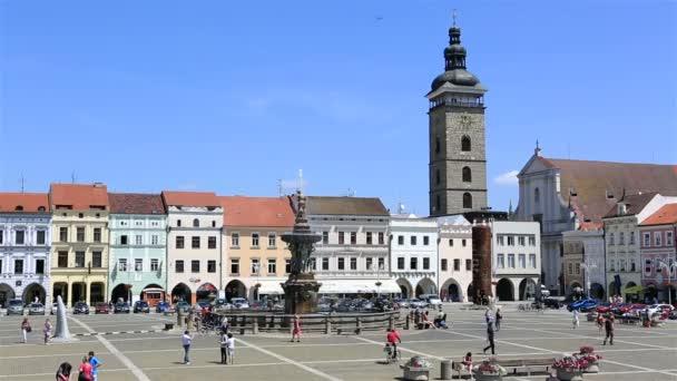 náměstí v historickém centru Českých Budějovic