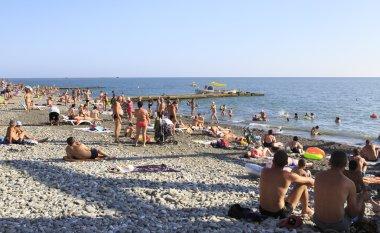 Beach on the Black Sea near Adler.
