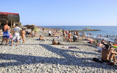 Beach on the Black Sea near Adler.