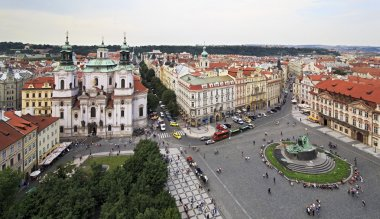 Old Town Square in Prague. View from the Old Town Hall.