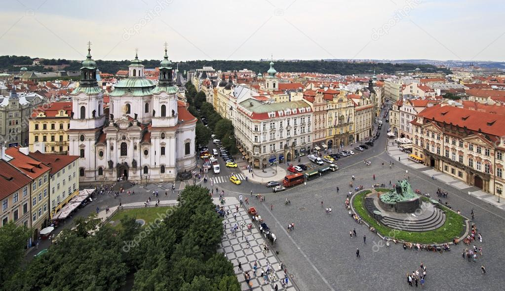 Фотообои Old Town Square in Prague. View from the Old Town Hall.