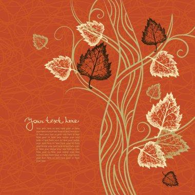 Autumn tree background clip art vector