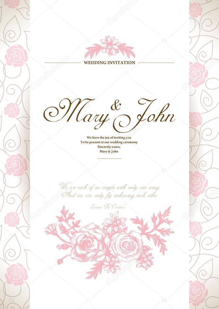Wedding invitation card stock vector pimonova 18200723 wedding invitation card stock vector stopboris Image collections