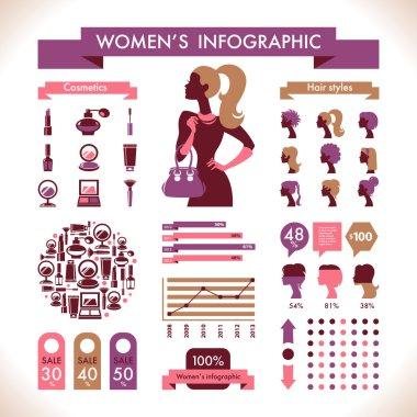 Beautiful Women's Infographic & Symbols