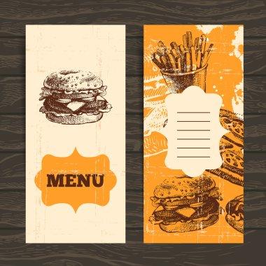 Menu for restaurant, cafe, bar, coffeehouse. Vintage background