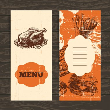 Menu for restaurant, cafe, bar, coffeehouse. Vintage background