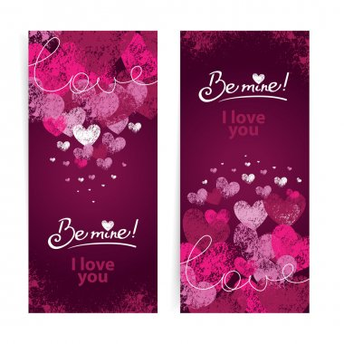 Set of Valentines day cards