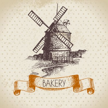 Bakery sketch background