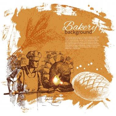 Bakery sketch background