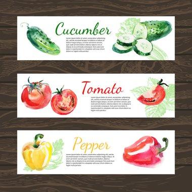Vegetables organic food banner
