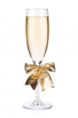 Champagne glass with bow decor