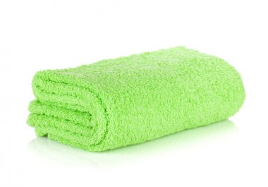 Green bath towel