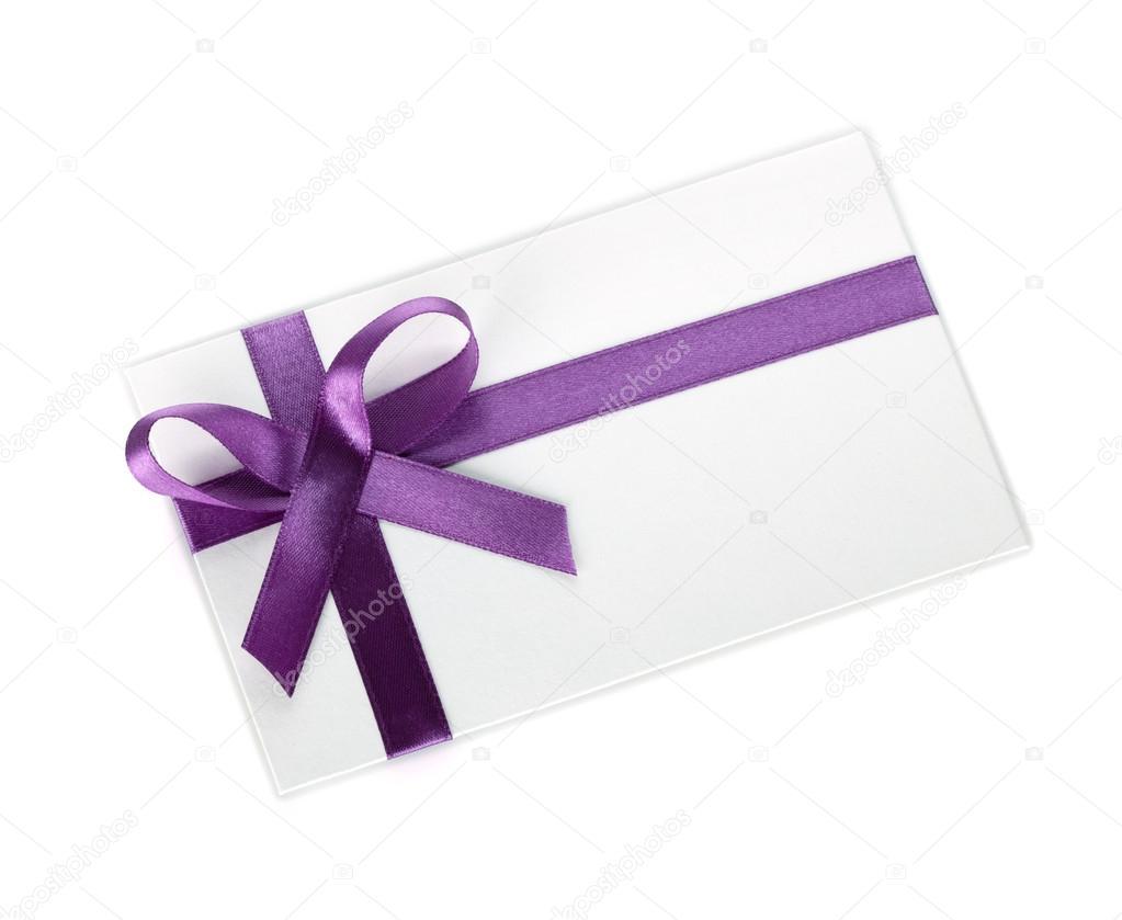 Geschenk Brief mit Multifunktionsleiste und Bogen — Stockfoto ...