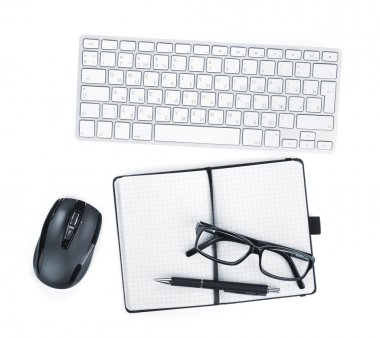 Office supplies, glasses and peripheral devicess