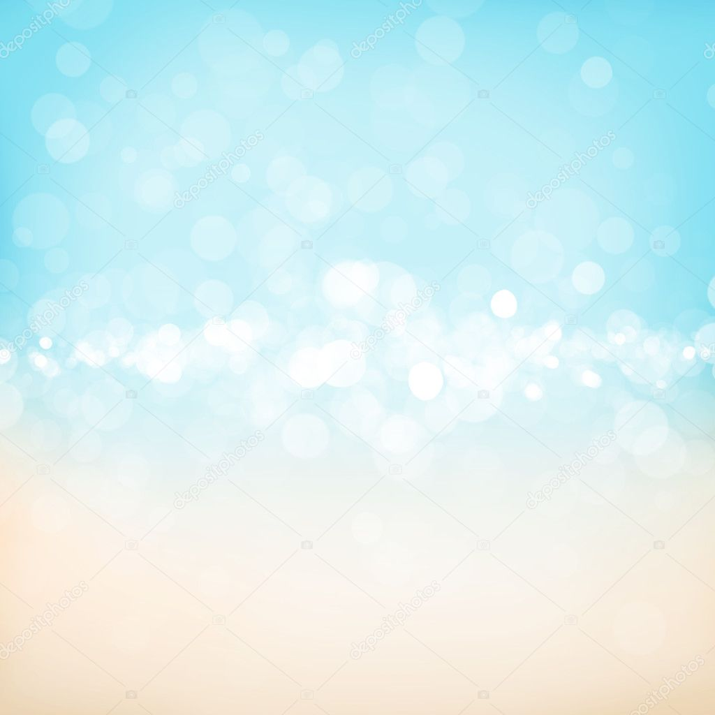 Blurred bokeh nature background with sea cost