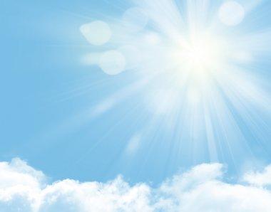 """Картина, постер, плакат, фотообои """"Солнечный свет и голубое небо"""", артикул 30732203"""