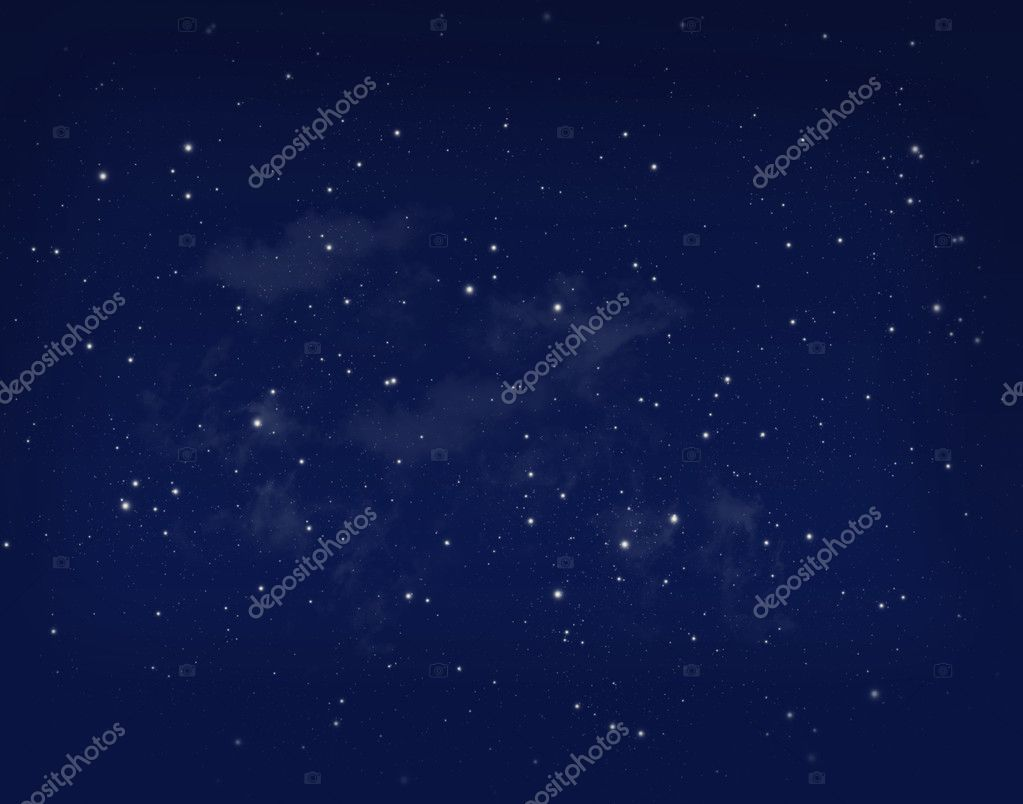 Stars in a night blue sky