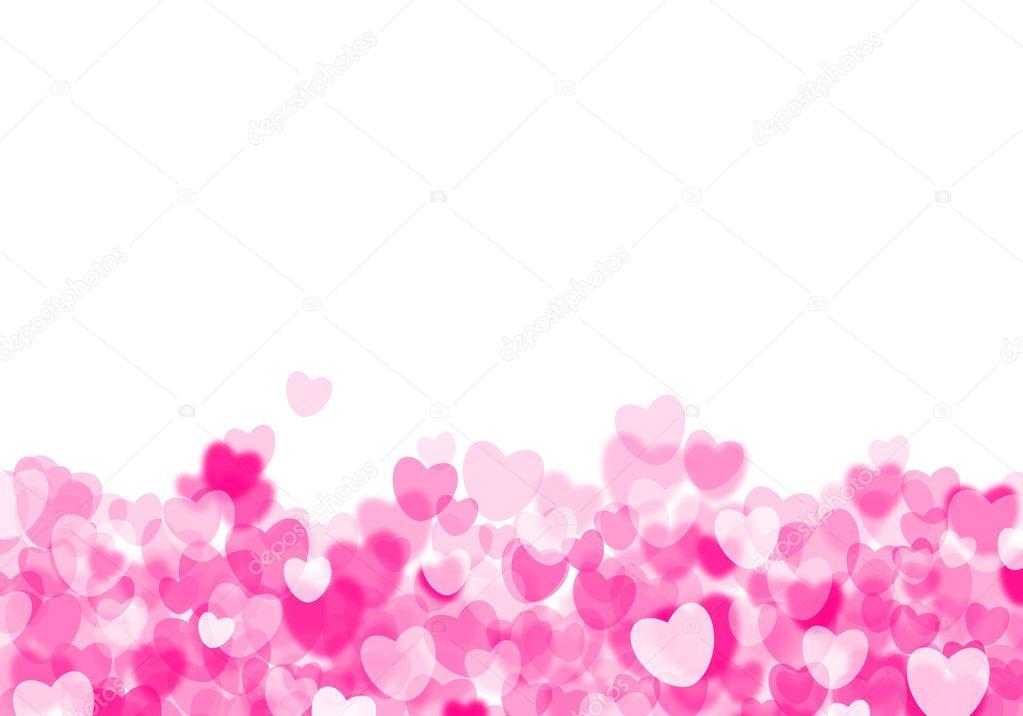 Fondo de San Valentín corazones de color rosa — Foto de stock ...