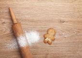 Fotografie váleček s moukou a perník cookie
