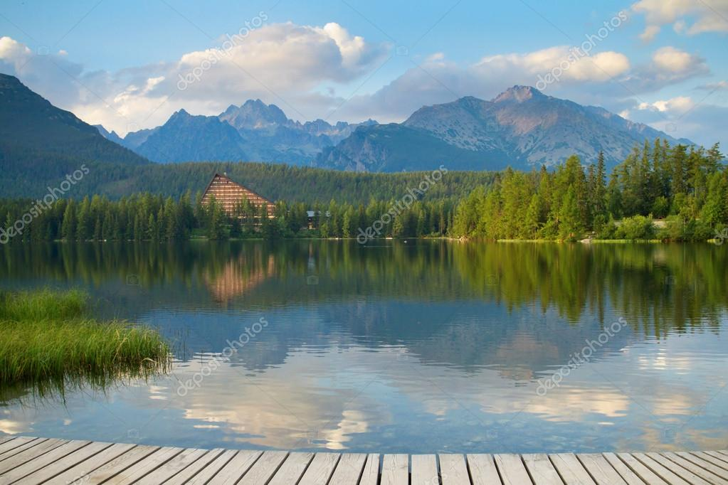 Strbske Pleso, beautiful lake in High Tatras mountains, Slovakia