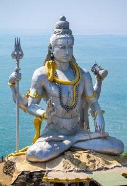 Statue of Lord Shiva in Murudeshwar Temple in Karnataka, India