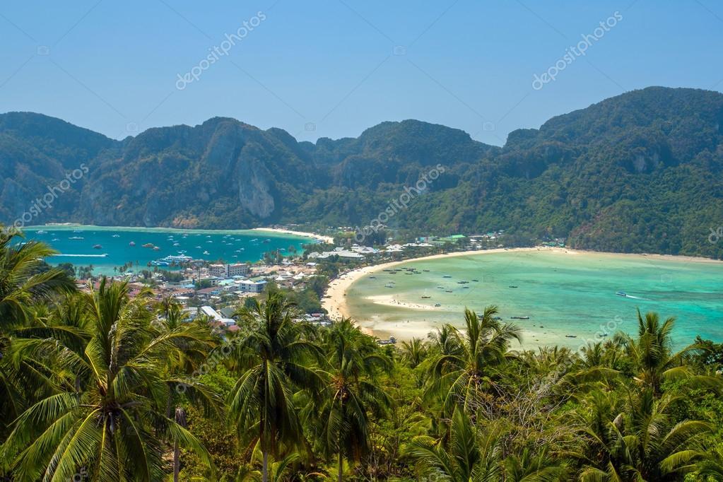 Phi-Phi island, Krabi Province, Thailand. Panorama