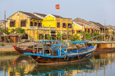 Boat on the Hoai river