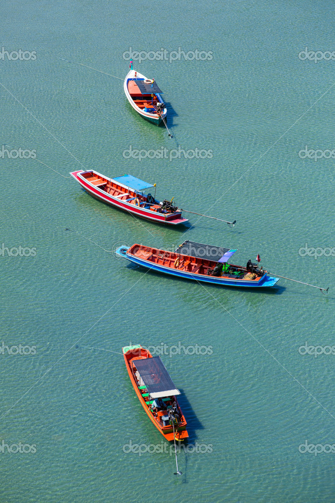 Wooden boats in the sea in Thailand