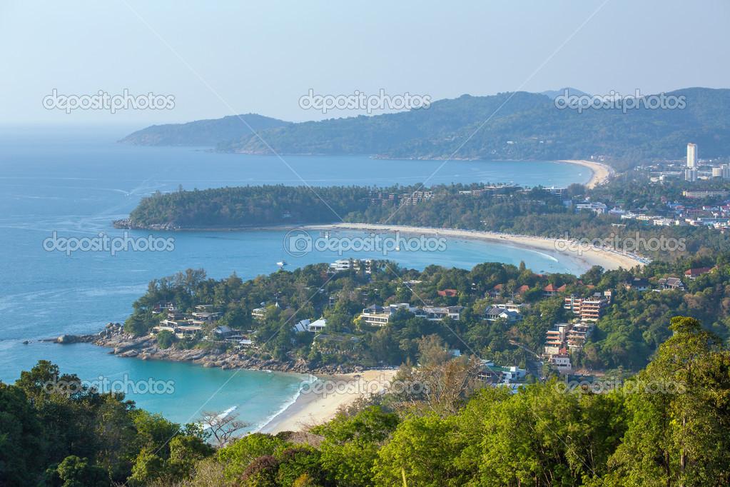 Western coastline of Phuket island