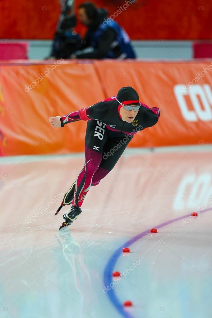 Eisschnelllauf Girlie 5000 M Redaktionelles Stockfoto Mankelly