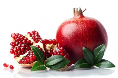 Pomegranate isolated on the white background