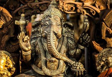 Hindu God Ganesh with Clipping Path stock vector